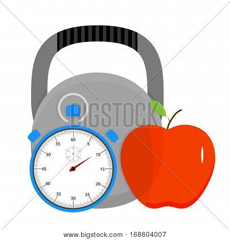 Sport and health icon vector. Interval training on strength endurance. Vector illustration