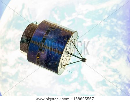 Satellite in space orbit