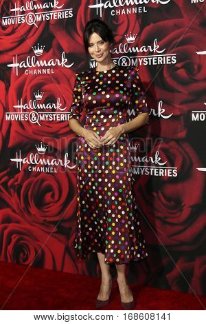 LOS ANGELES - JAN 14:  Catherine Bell at the Hallmark TCA Winter 2017 Party at Rose Parade Tournament House  on January 14, 2017 in Pasadena, CA