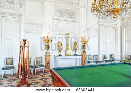 Versailles, France - July 02, 2016 : Lounge (salon) Music Playing In The Grand Trianon. Chateau De V