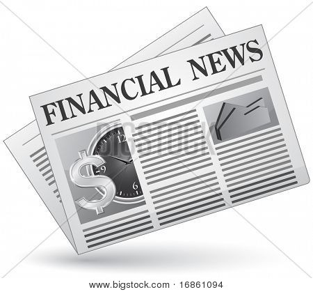 Financial news. Vector illustration of financial news icon.