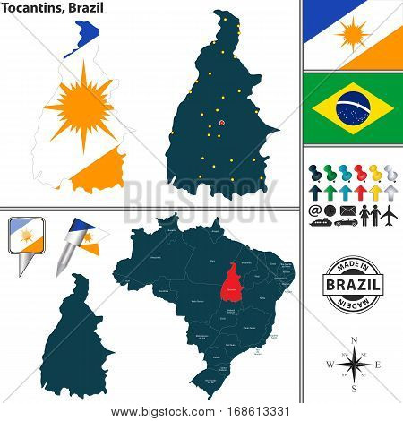 Map Of Tocantins, Brazil