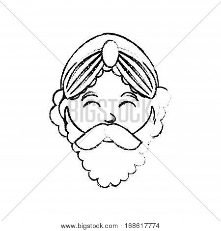 Three wise man cartoon icon vector illustration graphic design