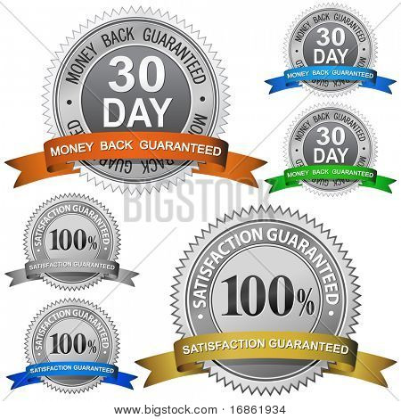30 Day Money Back Guaranteed and 100% Satisfaction Guaranteed Sign Set