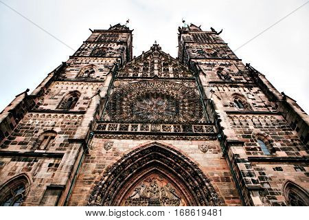 Church of St. Lorenz, one of the most significant and most beautiful medieval churches of the city of Nuremberg (Bavaria, Germany) and one of the first Lutheran church in Germany.