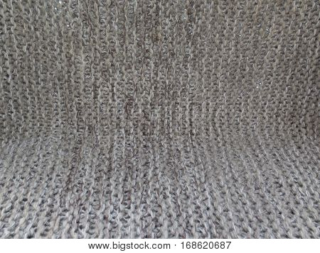 Floor And Wall With Texture Of Knitted Canvas
