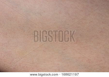 Human skin texture close-up leg background macro