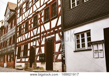 Traditional house in the German style in Bavaria