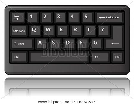 Black keyboard. Vector illustration.