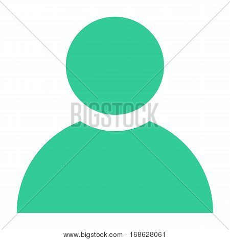 Flat user icon member sign avatar button. Quick and easy recolorable shape isolated from background. Vector illustration a graphic element for web internet design