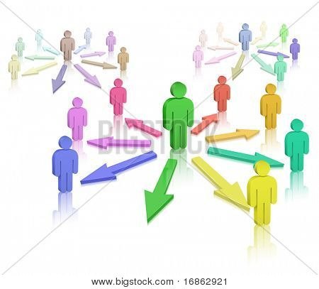 Social Network. Interpersonal relations. Vector illustration.