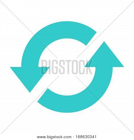 Flat loop icon repeat sign reload interface button. Multimedia audio video movie pictogram. Vector illustration a graphic element for web internet design.