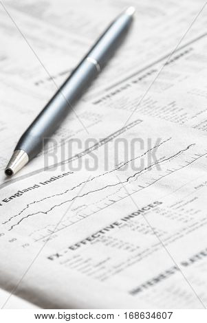Stock Markets Newspaper Analysis of the Financial Markets.