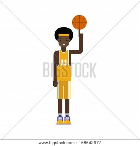 Basketball player young boy competition healthy character vector professional. Game competition ball team recreation. Athletic court champion concept equipment. Win tournament sport leisure.