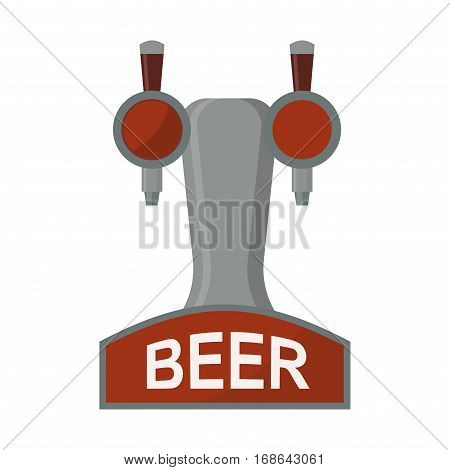 Alcohol column tower icon flat design. Equipment for dispensing beer isolated vector illustration. Drink festival happy keg row brewery counter tool.