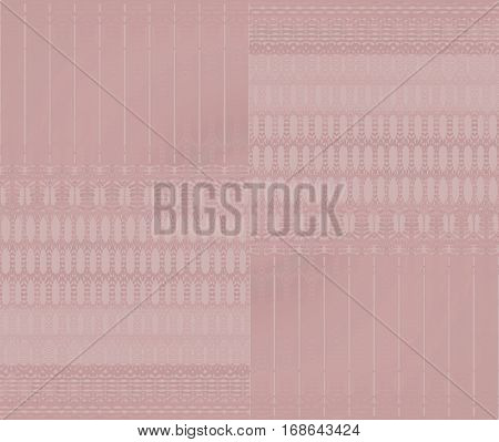 Abstract geometric seamless background in quiet colors. Regular ellipses and stripes pattern in pink shades shifted.