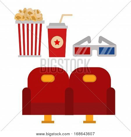 Icons for media cinema symbols vector illustration. Isolated entertainment design camera sign. Director cinematography hollywood multimedia equipment.