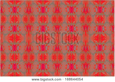 Abstract geometric seamless background. Regular ellipses pattern red, orange, blue gray and terracotta.