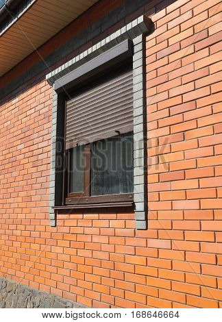 Brick House wall and  window shutter security barrier