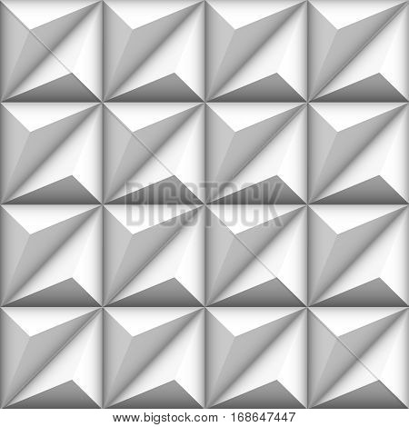 Abstract geometric seamless white background with triangle shapes