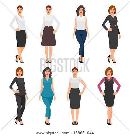 women in office clothes. Beautiful woman in business clothes. young women in elegant office clothes.
