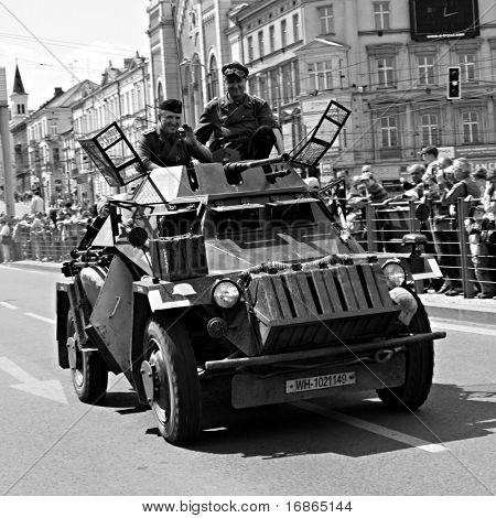 sdkfz 222 - German armored vehicle in Pilsen City Czech Republic Europe - Anniversary ends second world wars