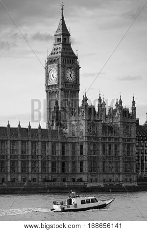 Big Ben and House of Parliament in London.