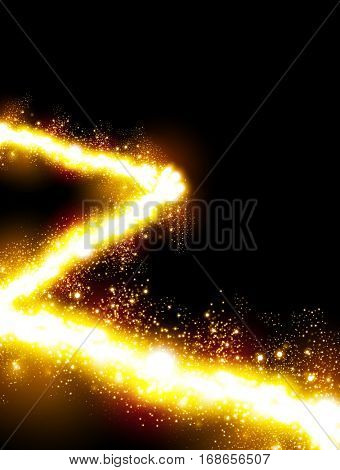 Cover Glittering lights abstract background easy all editable