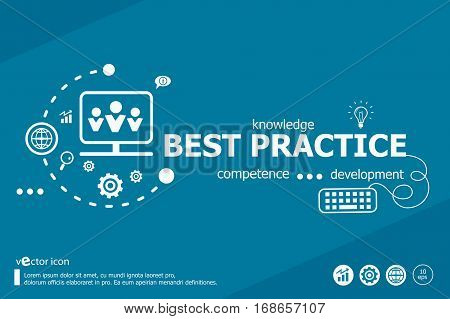 Best Practice And Marketing Concept. Infographic Business.