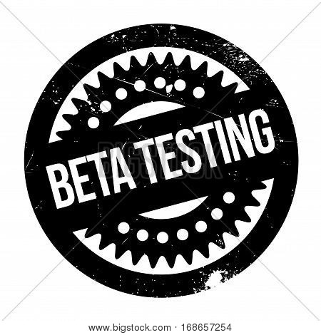 Beta testing stamp. Grunge design with dust scratches. Effects can be easily removed for a clean, crisp look. Color is easily changed.