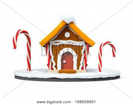 Gingerbread House Cartoon Front