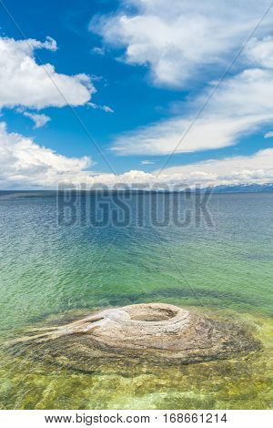 Fishing Cone geyser, West Thumb Geyser Basin. Yellowstone National Park, Wyoming - USA