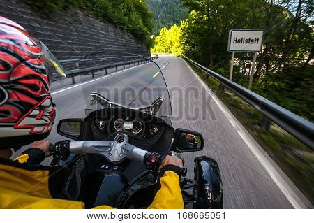 Chronicles of bikers or road adventure. Hello, Hallstatt!