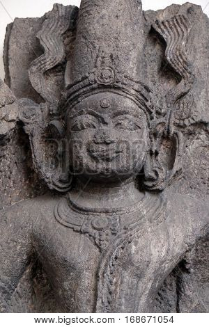 KOLKATA, INDIA - FEBRUARY 09: Composite image of Surya and Siva, from 13th century found in Khondalite, Konark, Odisha now exposed in the Indian Museum in Kolkata, India on February 09, 2016