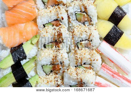 Sushi Set - Maki Sushi and Nigiri Sushi.