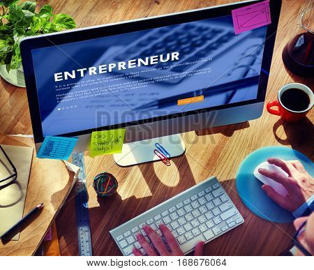 Entrepreneur Business Marketing Strategy Concept