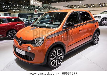 BRUSSELS - JAN 19 2017: Renault Twingo car on display at the Brussels Motor Show.