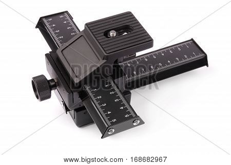 Focusing attachment for the camera isolated white background with soft shadow. Close-up