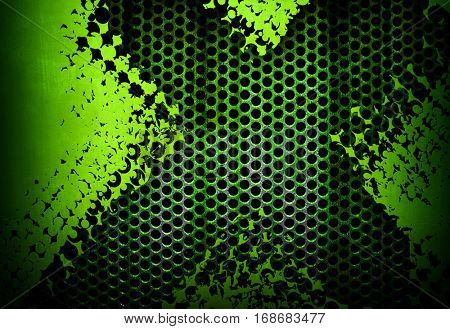 grunge metal mesh background