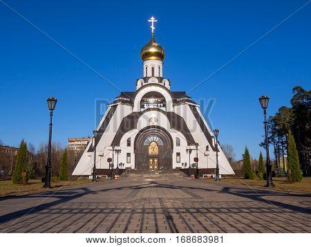 Sosnovy Bor, Russia - April 11 2016: Temple