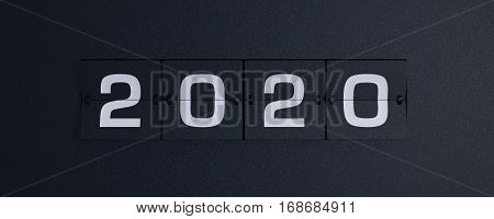 3d rendering flip board year 2020 background
