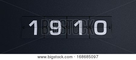 3d rendering flip board year 1910 background
