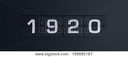 3d rendering flip board year 1920 background