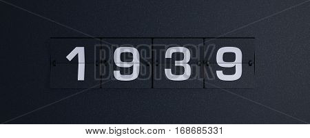 3d rendering flip board year 1939 background