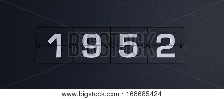 3d rendering flip board year 1952 background