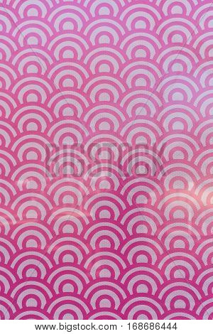 Field of Pink and White Circles Window Decal covering image
