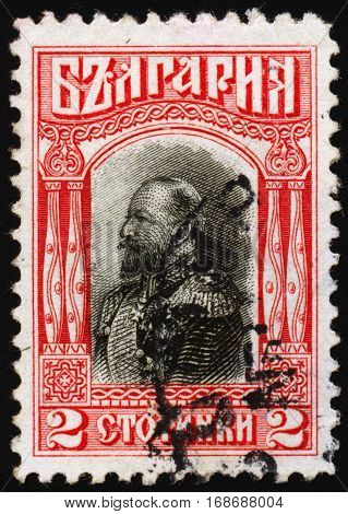 BULGARIA - CIRCA 1911: Postage stamps printed in Bulgaria dedicated to Ferdinand (1861- 1948) Bulgarian knyaz tsar author botanist entomologist and philatelist circa 1911.