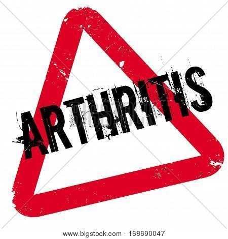 Arthritis rubber stamp. Grunge design with dust scratches. Effects can be easily removed for a clean, crisp look. Color is easily changed.