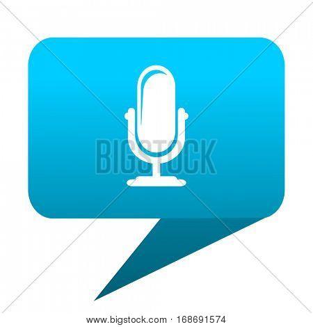 microphone blue bubble icon