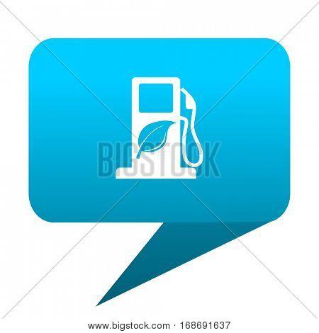 biofuel blue bubble icon